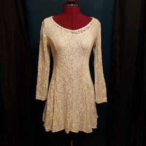 My Michelle Vintage 90's Ivory Lace Skater Dress